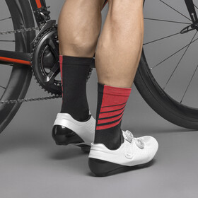 GripGrab Racing Stripes Socks black/red